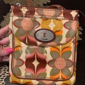 Fossil Floral Crossbody Bag